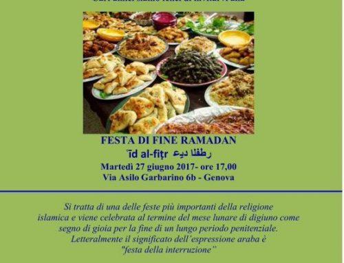 Genova, la festa di Fine Ramadan