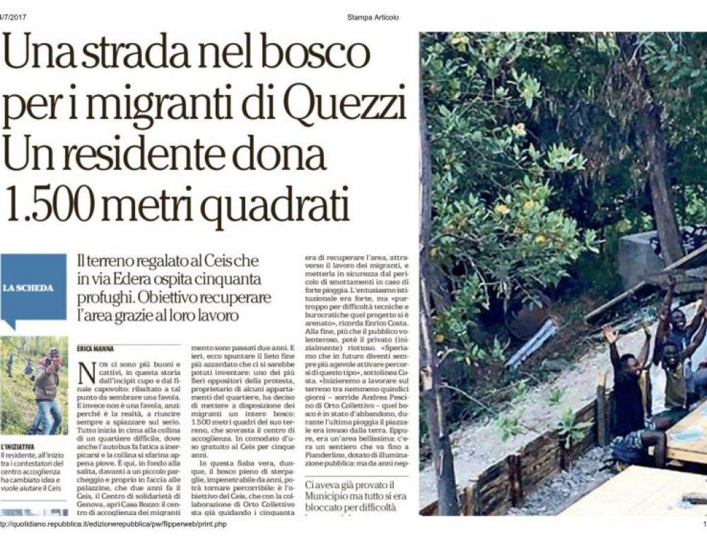 La Repubblica – Genova 14 luglio 2017