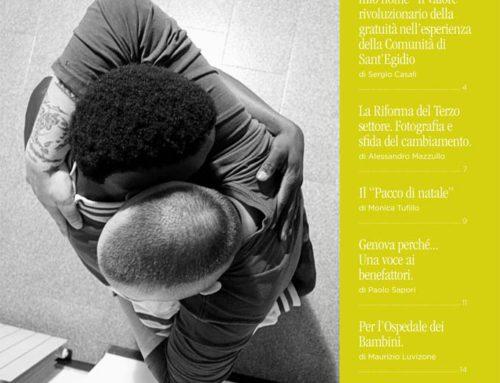 """E' uscito il nuovo numero dell'Abbraccio dedicato al """" senso della donazione"""""""
