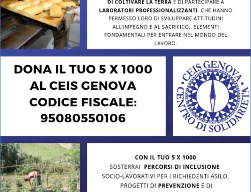 5×1000 – Sostieni il Centro di Solidarietà di Genova
