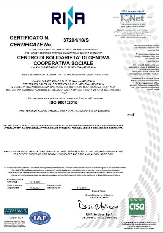 Certificato rina 37204