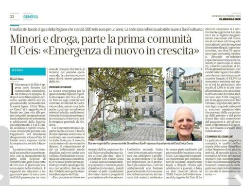 Parte la prima Comunità in Liguria per minori e adolescenti con problemi di dipendenza
